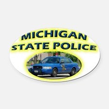 michspcrownvic Oval Car Magnet