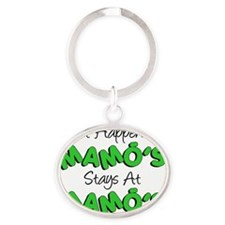 What Happens At Mamos Oval Keychain