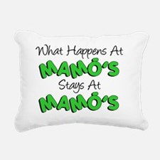 What Happens At Mamos Rectangular Canvas Pillow