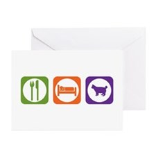 Eat Sleep Bobtail Greeting Cards (Pk of 10)