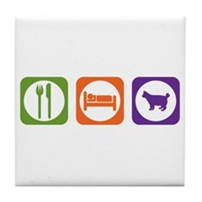 Eat Sleep Bobtail Tile Coaster