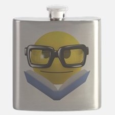 3d-smiley-bookworm Flask