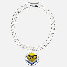 3d-smiley-bookworm Bracelet