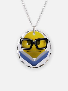 3d-smiley-bookworm Necklace