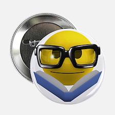 "3d-smiley-bookworm 2.25"" Button"