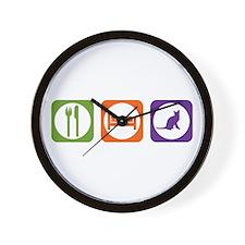 Eat Sleep Korat Wall Clock