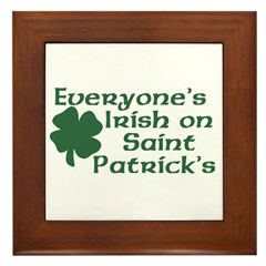 Everyone's Irish on St. Patrick's Framed Tile