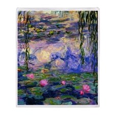 FF Monet Lilies 3 Throw Blanket