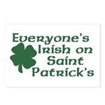 Everyone's Irish on St. Patrick's Postcards (Packa