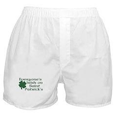 Everyone's Irish on St. Patrick's Boxer Shorts