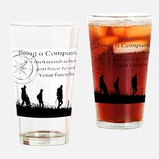 compass joke Drinking Glass