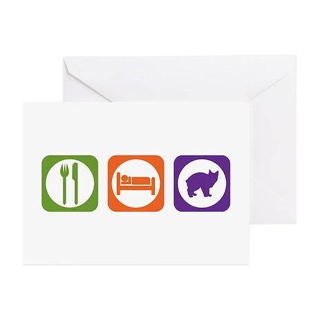 Eat Sleep Manx Greeting Cards (Pk of 10)