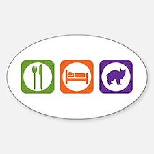 Eat Sleep Manx Oval Decal