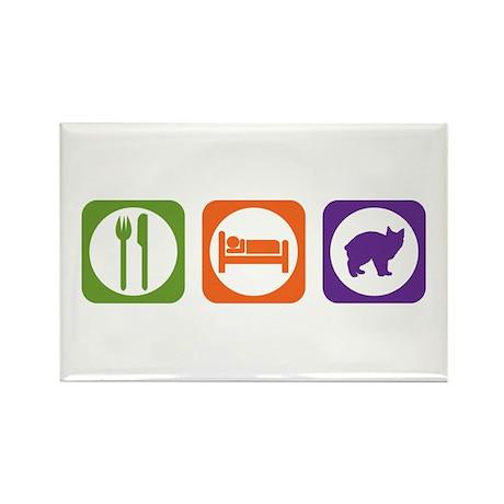 Eat Sleep Manx Rectangle Magnet (10 pack)