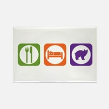Eat Sleep Manx Rectangle Magnet