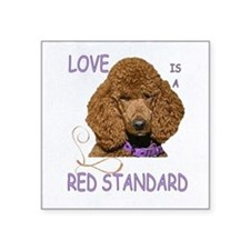 "Love is a Red Standard Square Sticker 3"" x 3"""