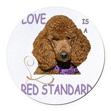 Love is a Red Standard Round Car Magnet