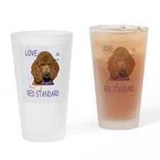 Love is a Red Standard Drinking Glass