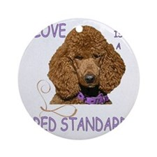 Love is a Red Standard Round Ornament