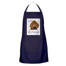 Love is a Red Standard Apron (dark)