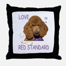 Love is a Red Standard Throw Pillow