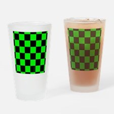 flipflopsgrncheckerboardpng Drinking Glass
