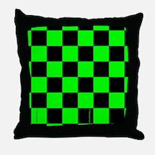 flipflopsgrncheckerboardpng Throw Pillow
