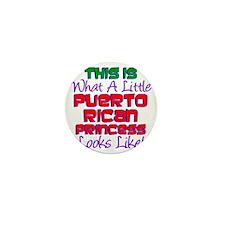 Puerto Rican Princess Mini Button