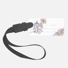 Rues Song black Luggage Tag