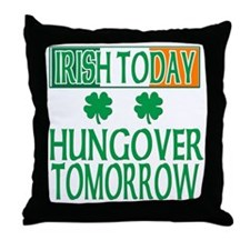 irishhungover2 Throw Pillow