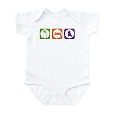 Eat Sleep Curl Infant Bodysuit