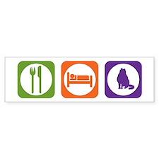 Eat Sleep Curl Bumper Bumper Sticker