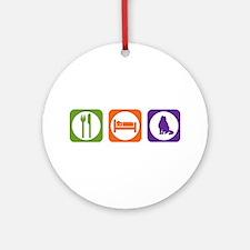 Eat Sleep Curl Ornament (Round)