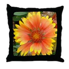 Orange And Yellow Flower Throw Pillow