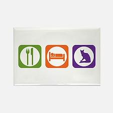 Eat Sleep Balinese Rectangle Magnet