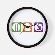 Eat Sleep Balinese Wall Clock