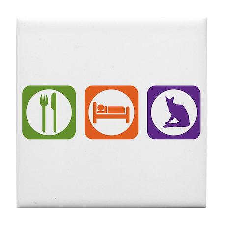 Eat Sleep Balinese Tile Coaster