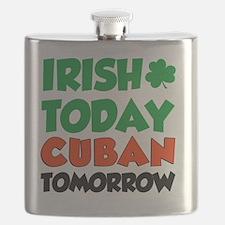 Irish Today Cuban Tomorrow Flask