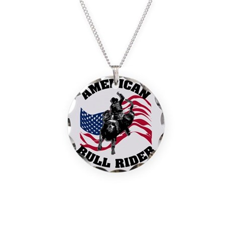 american_bullrider.gif Necklace Circle Charm