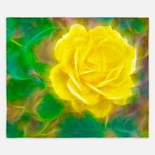 Yellow Rose King Duvet