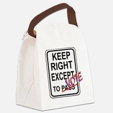 keeprightvote4white Canvas Lunch Bag