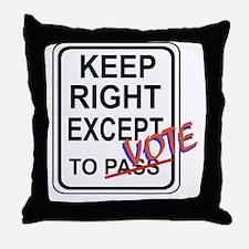 keeprightvote4white Throw Pillow