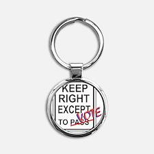 keeprightvote4white Round Keychain