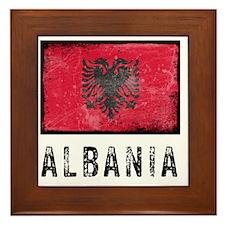 GrungeAlbania2 Framed Tile