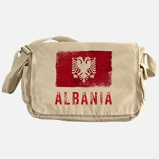 GrungeAlbania2Bk Messenger Bag