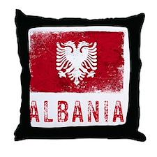 GrungeAlbania2Bk Throw Pillow