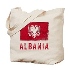 GrungeAlbania2Bk Tote Bag