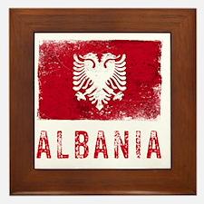 GrungeAlbania2Bk Framed Tile