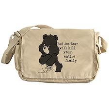 bad ass bear Messenger Bag