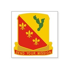 "129 Field Artillery Regimen Square Sticker 3"" x 3"""